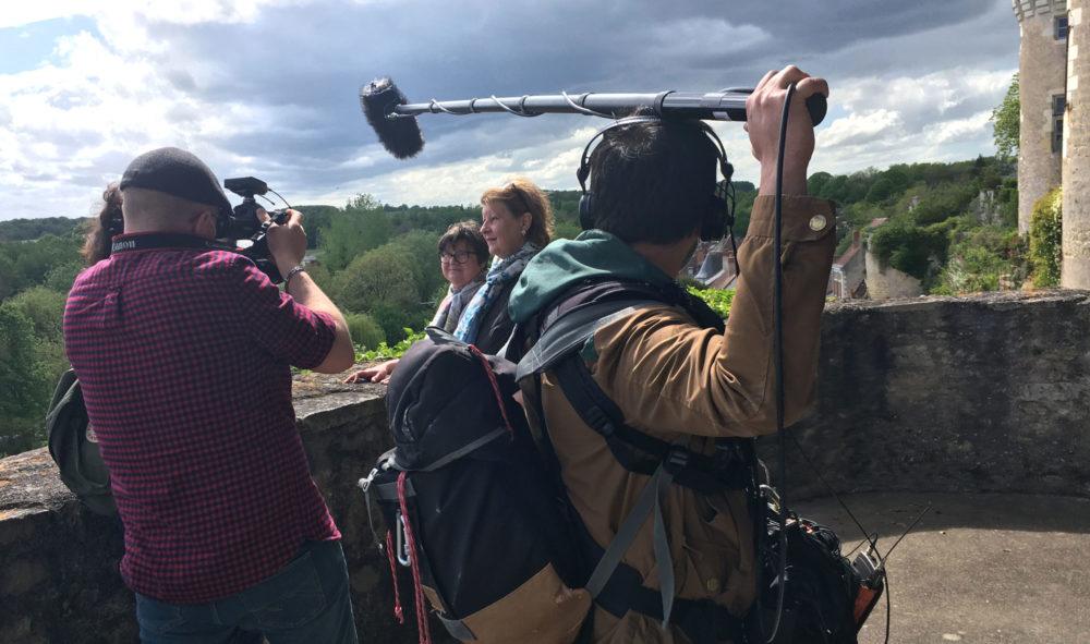 France 3 en tournage au château